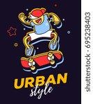 vector creative illustration of ... | Shutterstock .eps vector #695238403
