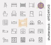 interiors furniture line icon... | Shutterstock .eps vector #695249143