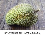 durian  no backgrond | Shutterstock . vector #695253157