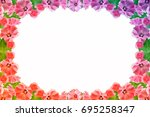 petunias isolated on a white... | Shutterstock . vector #695258347