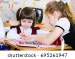 education concept   school...   Shutterstock . vector #695261947
