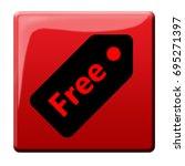 free sale button | Shutterstock . vector #695271397