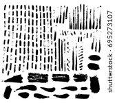 large set of ink textures.... | Shutterstock .eps vector #695273107