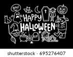 halloween doodle   Shutterstock .eps vector #695276407