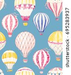 watercolor pattern balloon   ... | Shutterstock . vector #695283937