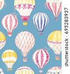 watercolor pattern balloon   ...   Shutterstock . vector #695283937