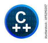 logo c   programming language... | Shutterstock .eps vector #695290207