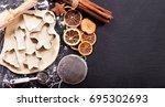 ingredients for cooking... | Shutterstock . vector #695302693
