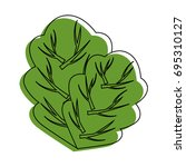 spinach leaf icon | Shutterstock .eps vector #695310127