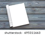 mock up magazine or catalog on... | Shutterstock . vector #695311663