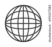 global sphere icon | Shutterstock .eps vector #695327083