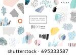 creative art header with...   Shutterstock .eps vector #695333587