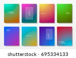 minimal covers design gradients ... | Shutterstock .eps vector #695334133