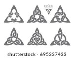vector celtic trinity knot part ... | Shutterstock .eps vector #695337433