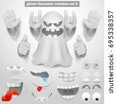 creation set of halloween... | Shutterstock .eps vector #695338357