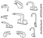 vector set of faucet | Shutterstock .eps vector #695341693