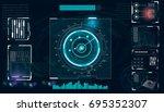 radar screen. vector...   Shutterstock .eps vector #695352307
