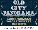 script handcrafted vector... | Shutterstock .eps vector #695359153