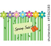 spring sale background with bar ... | Shutterstock .eps vector #695362183