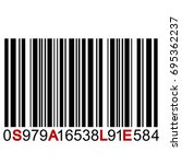 sale message on barcode | Shutterstock .eps vector #695362237