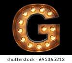 light bulb glowing letter... | Shutterstock . vector #695365213