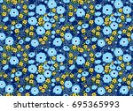 vector seamless pattern. pretty ... | Shutterstock .eps vector #695365993