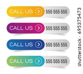 call us button set | Shutterstock .eps vector #695375473
