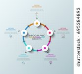 round diagram with 5... | Shutterstock .eps vector #695384893