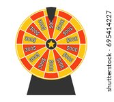 spinning wheel of fortune.... | Shutterstock .eps vector #695414227
