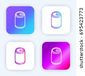 beer can bright purple and blue ...
