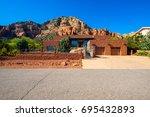 sedona  arizona usa   april 25  ... | Shutterstock . vector #695432893
