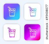 ice tea bright purple and blue...