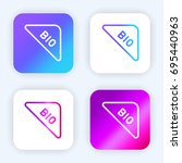 bio bright purple and blue...