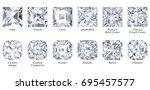 twelve varieties of square... | Shutterstock . vector #695457577
