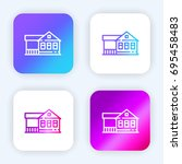 house bright purple and blue...