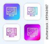 coding bright purple and blue...
