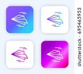 paper plane bright purple and...