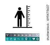 tall man with scale icon | Shutterstock .eps vector #695475637