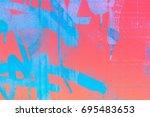graffiti  wall  background ...   Shutterstock . vector #695483653