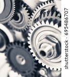engine gear wheels  industrial... | Shutterstock . vector #695486707