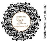 vintage delicate invitation... | Shutterstock .eps vector #695488207