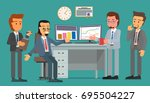 office workers discuss... | Shutterstock .eps vector #695504227