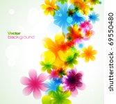 stylish colorful flower. eps10... | Shutterstock .eps vector #69550480