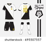 soccer jersey or football kit... | Shutterstock .eps vector #695507557