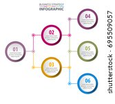 business infographics  strategy ... | Shutterstock .eps vector #695509057