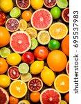 citrus background. fresh citrus ...   Shutterstock . vector #695537983