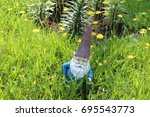 Garden Gnome In Tall Overgrown...