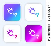 plug bright purple and blue...
