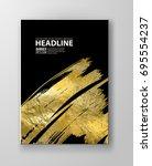 vector black and gold design... | Shutterstock .eps vector #695554237