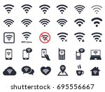 wi fi icons  wireless symbols...   Shutterstock .eps vector #695556667
